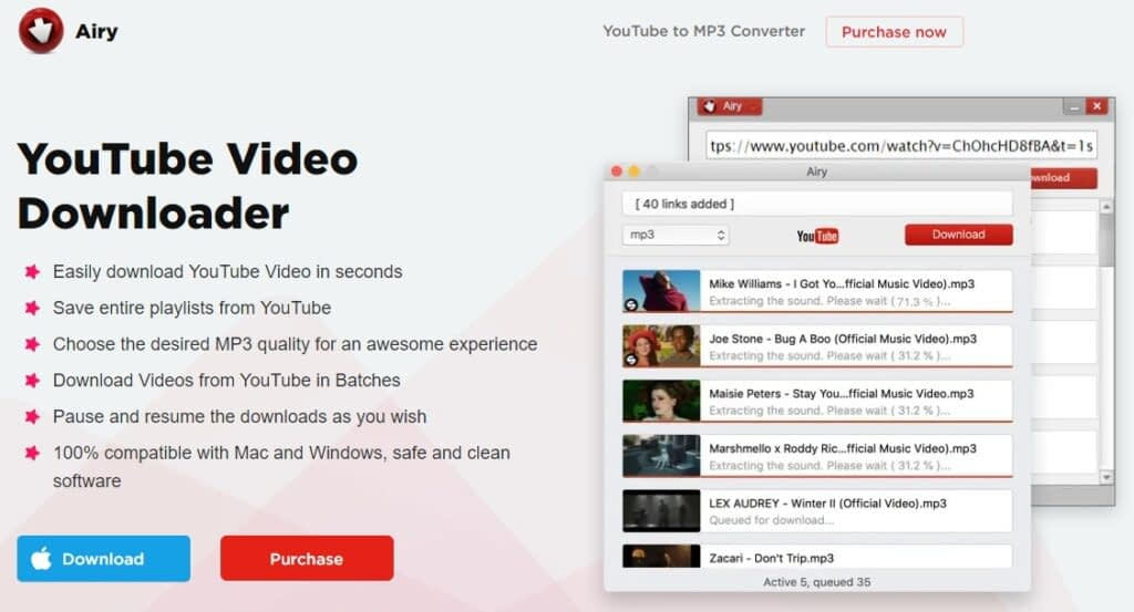 Airy youtube video downloader