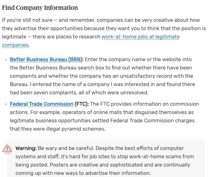 find company information