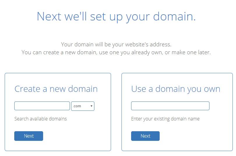 enter domain bluehost